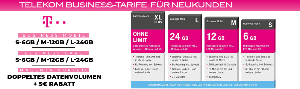 Neuvertrag Geschäftskunden Business Telekom Business Mobil